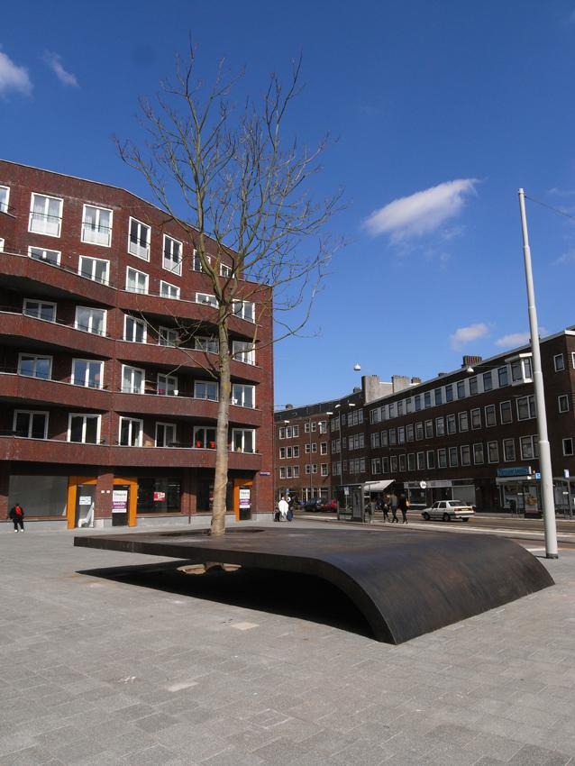 Kunstwerk Witte de Withplein Amsterdam